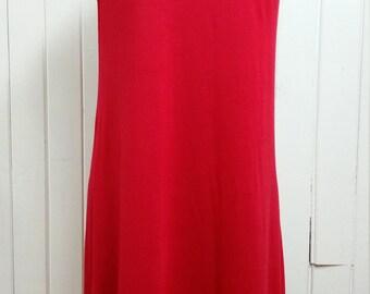 Robe trapèze en jersey de rayonne rouge