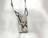 Domino jewelry, elephant necklace, unique gift idea, elephant jewelry, domino art, repurposed jewelry, repurposed domino, elephant love