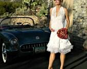 Simple Wedding Dress-Short Wedding Dress-Unique Wedding Dress-Maternity Hand Looped Layered Andelin Tulle Wrap Skirt-Modern Pregnant Bride