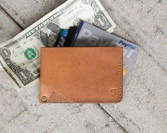"""Handmade Minimal Leather Wallet // """"minimalist"""" by fullgive in java"""