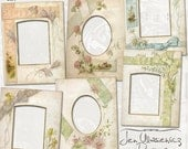Vintage Photo Album Pages set 2 digital scrapbooking graphics / clipart / instant download / printable