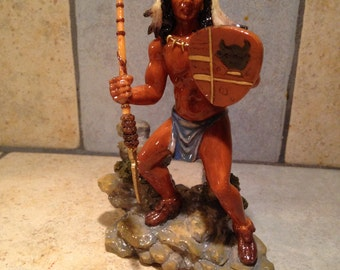 Native American Indian Figurine by Franklin Mint