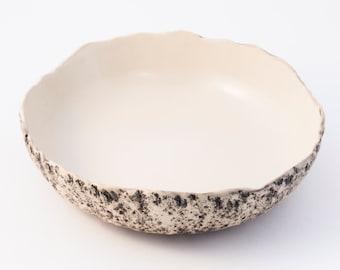 White pasta bowl, Handmade ceramic pasta bowl, stoneware  bowl White, large salad bowl, Soup bowl, Large serving bowl, Christmas gift