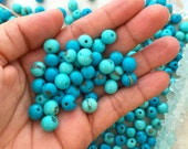 Aqua & Turquoise Blue: Real Natural Acai Beads, Acai Seeds, Organic Beads, Natural Seeds, Eco-Beads, South American Beads, Pick your qty
