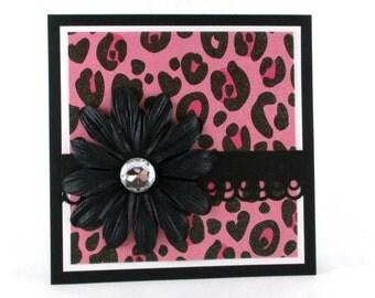 Birthday card, sexy birthday, leopard cheetah print, feminine birthday card, animal print, 21st birthday, 30th birthday, 40th birthday