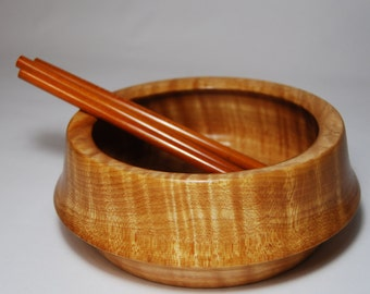 Handmade Wood Bowl, Handturned Wooden Bowl, Decorative Bowl, Tiger Maple Wood Bowl