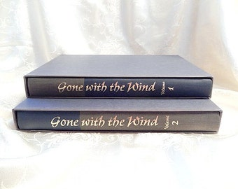 Gone with the Wind, 1968, 2 volume book set (each in a slipcase) Heritage, illustrated by John Groth