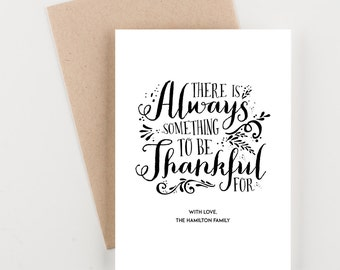 Be Thankful, Happy Thanksgiving Print or Greeting Cards