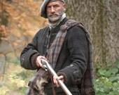 Hand Knit Felted Outlander Dougal Beret Tam Scottish Bonnet, Highlands Wool, 12 Different Colors, Made to Order