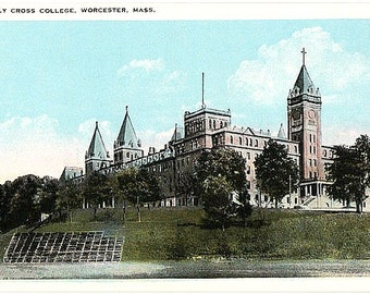 Antique Massachusetts Postcard - College of the Holy Cross (Unused)