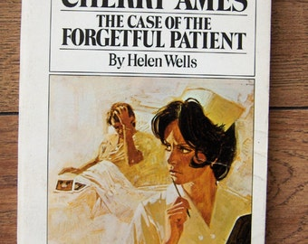 Vintage book 1961 Cherry Ames Case of the FORGETFUL PATIENT sc