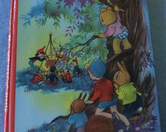 Vintage childrens book WINKIE and His MAGIC FLUTE cute illustrations by Willy Schermele
