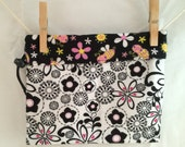Reversible Project Bag, Flowers and Bees, Medium