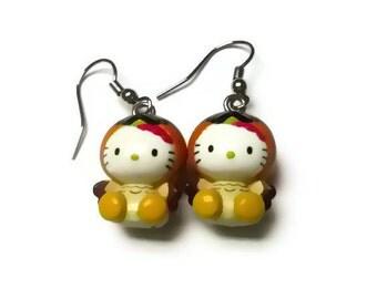 Kitty Earrings. Kitty Owl Earrings. Charity Earrings. Dangle Earrings. Drop Earrings. Pets. Cat. Nature.