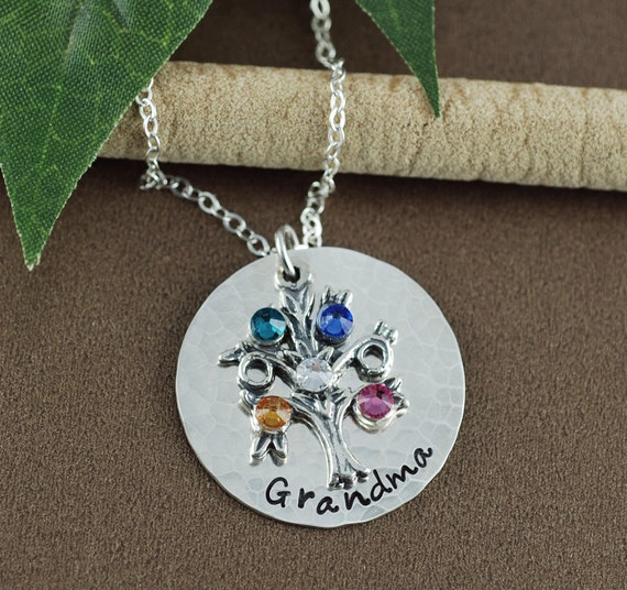 Tree of life personalized necklace