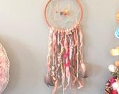 Dreamcatcher, Wall Hanging, Nursery Decor, Bedroom Decor, Bohemian, Hippie, Owl, Feathers, Sequins, Beads
