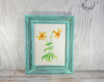 Framed wild lily watercolor painting / original painting / wall art