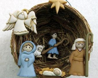 Holy Family Nativity Manger Scene Christmas Ornament 201