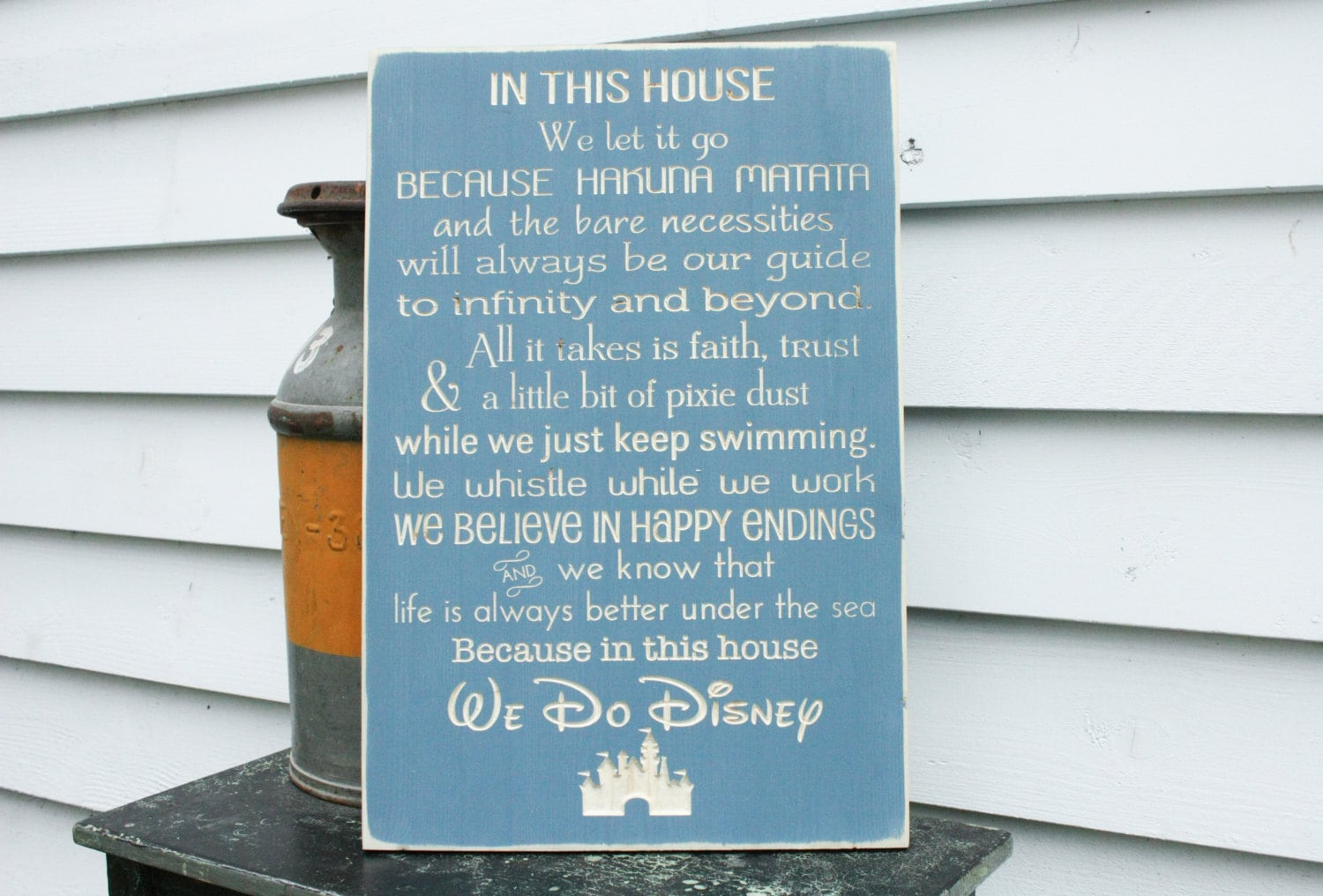 Disney Rules With Castle In This House We Do Disney House