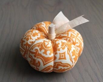 Orange Floral Pumpkin Pincushion Floral Pumpkin Pin Keep