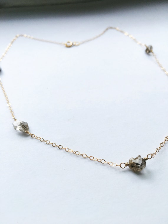 Herkimer diamond whisper choker
