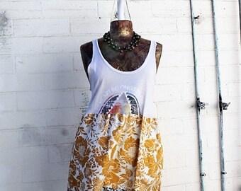 Med/Large Billabong Surfer Girl Dress/Upcycled Beach Dress/Heart of the Sea/Babydoll Dress/Upcycled Clothing/Short Dress/summer garden dress