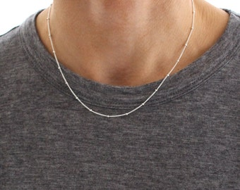 Silver Satellite chain - fine silver chain layering necklace - sterling silver
