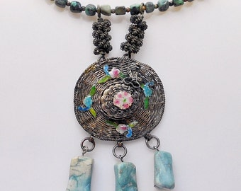 Three Sisters Vintage Assemblage Necklace