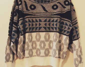 80's Geo Pattern Sweater