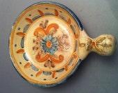 Hand Painted South American Folk Art Pottery, Signed Ceramics, Folk Art,Decorative Ceramics, Home Decor, Spanish Flavor, Vintage Signed Art