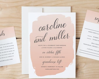 Instant Download Printable Wedding Invitation Template | Watercolor | Word or Pages | MAC or PC | Editable Artwork Colors