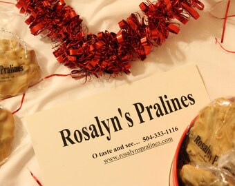 Rosalyn's  Pecan Pralines Valentines Tins