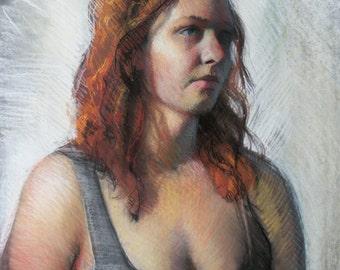 Emma - original pastel drawing (FD 85)