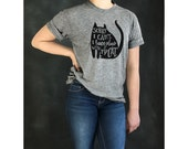 snarky cat tshirt . Unisex tee . gray heather