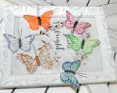SUPPLY SALE-Pack of 6 Mini Butterflies
