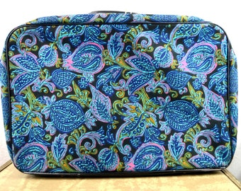 Vintage 60s Mod Psychedelic Swirl Patterned FUN Suitcase Japan