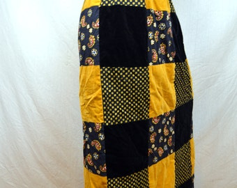 Vintage 70s Boho Patchwork Hippie Skirt - By Mr. Hank