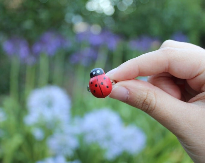 Adjustable Ladybug Ring.