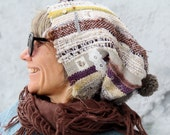 "Hand woven funny hat rustic style fashion for her - ""Countrylike"""