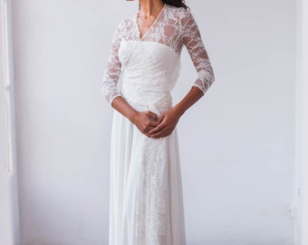 Long Sleeve shrug, bridal shrug, long sleeve bridal shawl, long sleeve shawl, white lace shrug, bridal lace shrug, wedding shrug wedding