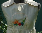 Hippie Girl Vintage Maternity Top with Embroidery
