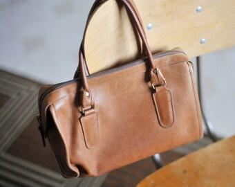 "Vintage Leather Coach Bag, Authentic Coach Bag, Coach Purse, Speedy Bag, All Leather Bag, ""Madison"", Doctor Bag, Mini Duffle Bag"