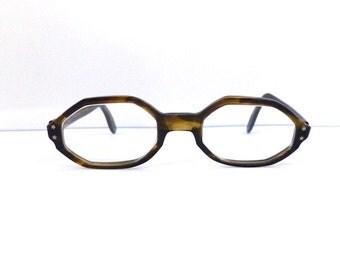 Vintage Swan eyeglasses // Unisex 1950's/1960's  //Tortoiseshell// USA//#M73