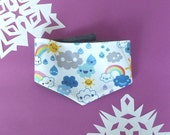 Fleece and Fabric Bandana,  Happy Weather Fabric, Toddlers and Kids