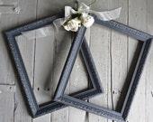 French Country Frames, Vintage Frames, Black Frames, Fancy Ornate Frames, Shabby Chic Cottage Decor, Paris Apartment, 11x14 Frames