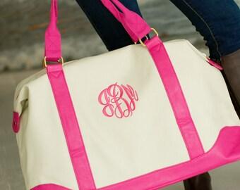 Monogrammed Weekender Tote Bag / Monogrammed Luggage / Monogrammed Carry On Bag