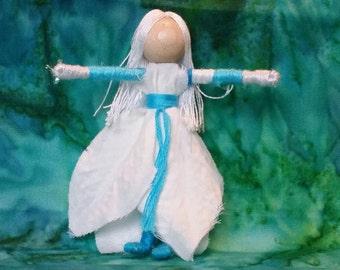 Sale - Christmas Fairy - Flower fairy - Christmas elf - Waldorf doll