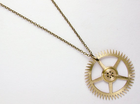 necklace jewelry necklaces clockwork industrial compass sterling collections echo large silver rose design