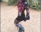 Leggings - Steampunk - Cyber Punk - Steampunk - Bohemian - Gypsy Boho - Goth - Clothing - Fashion - Sexy - Tatto Leggings - Size Large