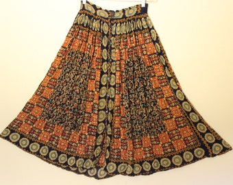 Free Shipping Vintage Hippie Boho Long Skirt  Made in India